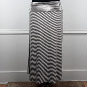 NY COLLECTION PLUS SIZE STRIPED MAXI SKIRT